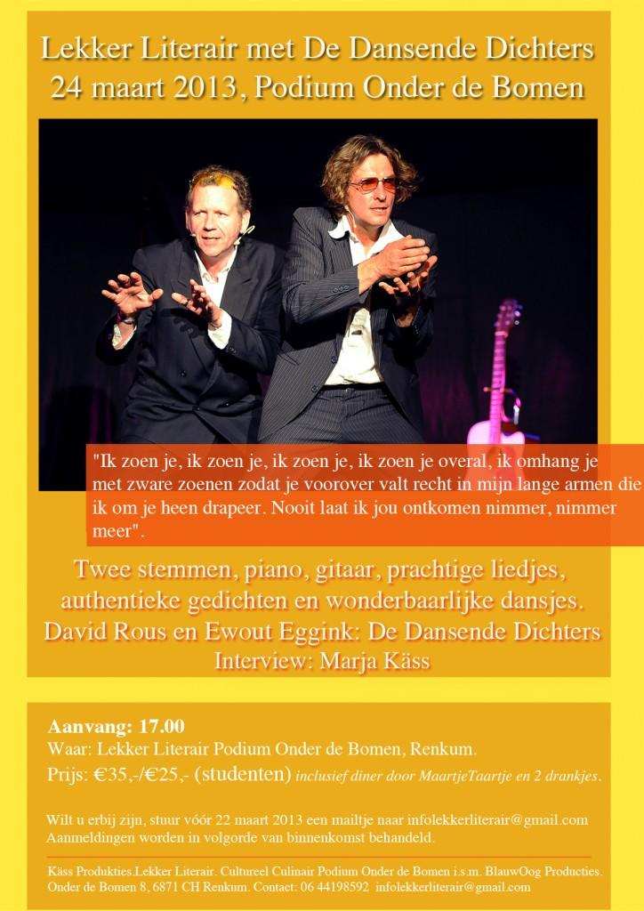 Uitnodiging Lekker Literair met de Dansende dichters