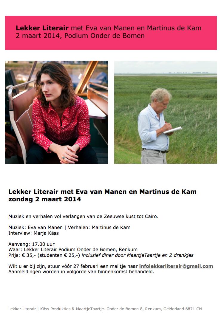 Lekker Literair met Eva van Manen en Martinus de Kam © Lekker Literair Podium Onder de Bomen Kass Produkties MaartjeTaartje